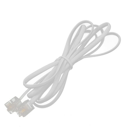 Unique Bargains Male to Male 6P2C RJ11 Telephone Modems Cable Wire Line 1.5M RJ-11 plugs male to male(2 conductors).Suitable for telephones, fax machines, modems, answering machines, etc.