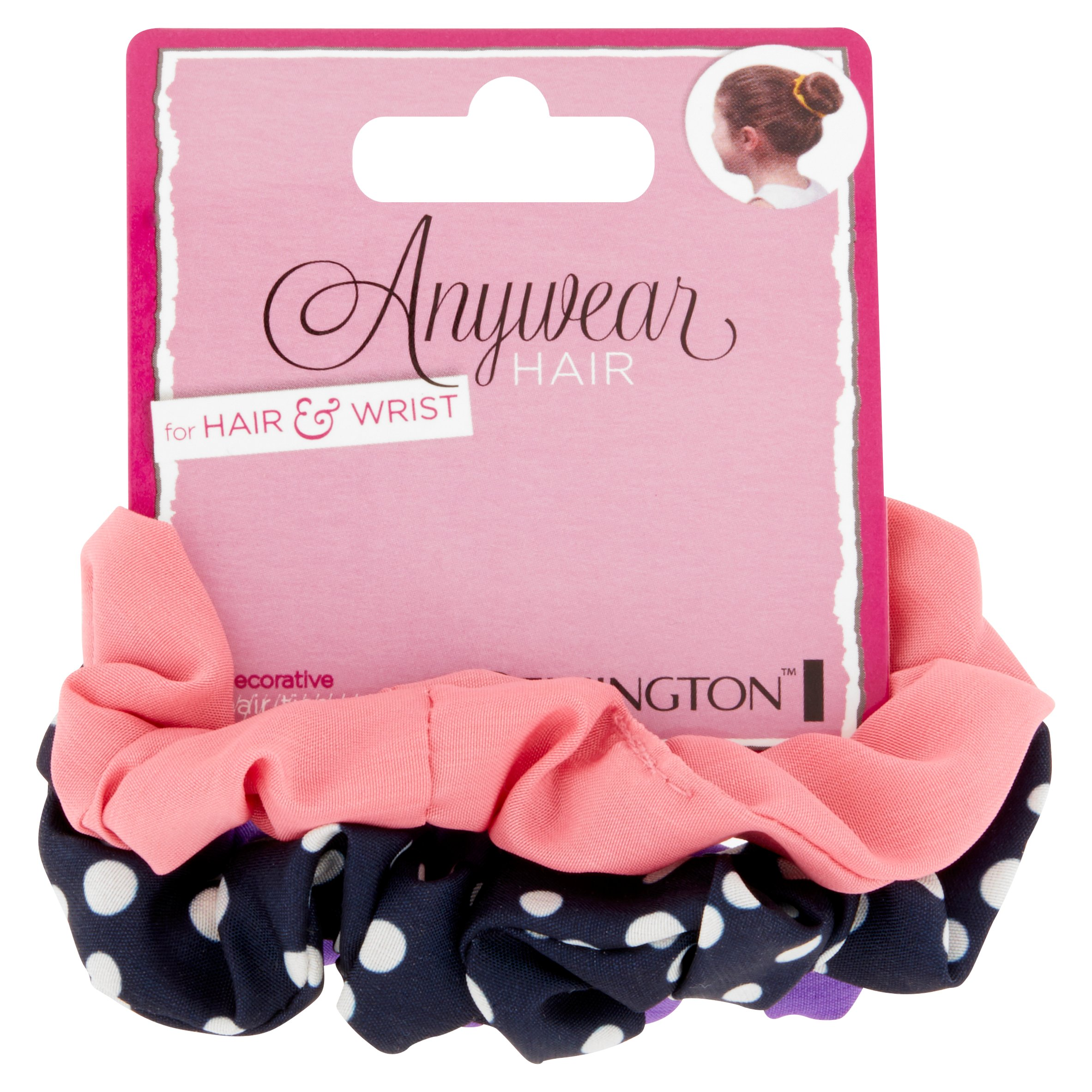 Remington Anywear Hair Decorative Hair Ties for Hair & Wrist, 3 count