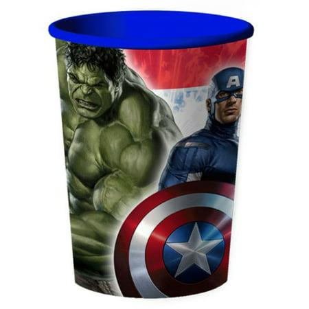 Avengers Assemble Plastic 16 Ounce Reusable Keepsake Favor Cup (1 Cup)