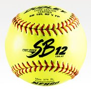 Dudley SB 12L NFHS Cork Center Fast Pitch Leather Softballs, 1 Dozen. 4H-311Y by Dudley
