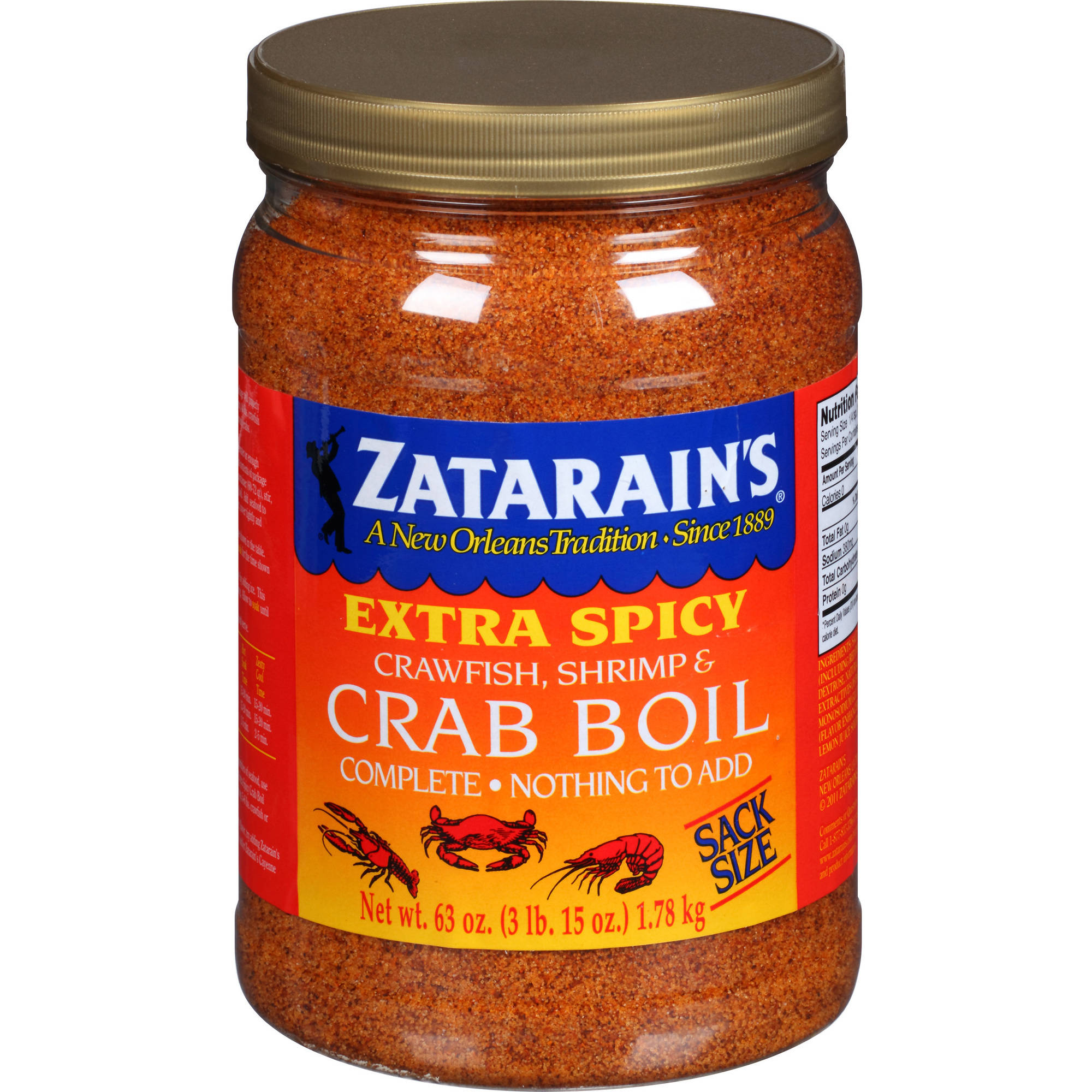 Zatarain's Extra Spicy Crawfish, Shrimp & Crab Boil, 63 oz