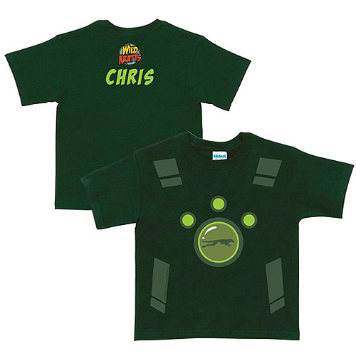 Personalized Wild Kratts Creature Power Suit Toddler Boy Green T-Shirt by Generic