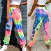 Tie Dye Print Joggers High Waist Long Baggy Pants Women Sport Sweatpants Loose Trousers