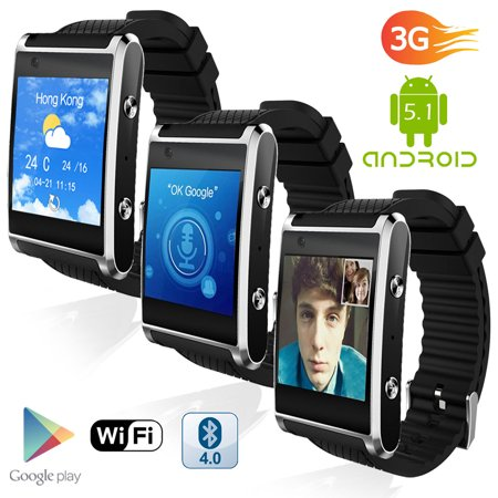 1.54-inch Android SmartWatch by Indigi® (Bluetooth 4.2 Sync + AMOLED Screen + WiFi +
