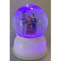 Santas Forest 21225 LED Christmas Snow Globe, 5-1/2 in H, Acrylic, White