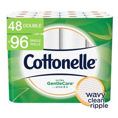 Kleenex Cottonelle Toilet Paper (Cottonelle Ultra GentleCare Toilet Paper, Sensitive, 48 Double Rolls (=96 Regular Rolls) )