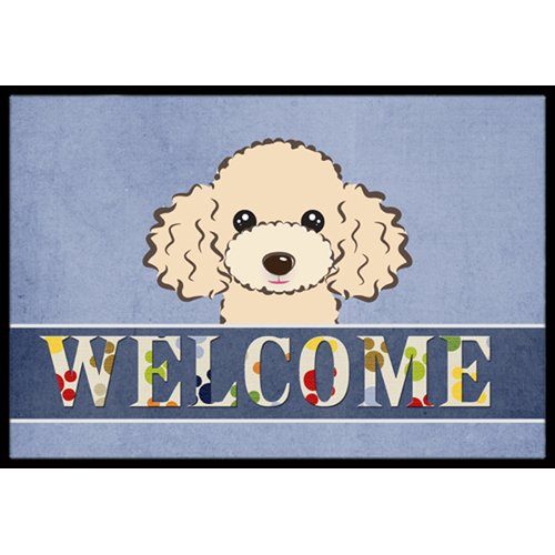Caroline's Treasures Buff Poodle Welcome Mat