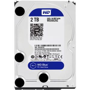 WD WD20EZRZ WD Blue 2 TB 3.5-inch SATA 6 Gb/s 5400 RPM PC Hard Drive - SATA - 5400 - 64 MB Buffer - Blue