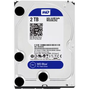 WD WD20EZRZ WD Blue 2 TB 3.5-inch SATA 6 Gb/s 5400 RPM PC Hard Drive - SATA - 5400 - 64 MB Buffer - Blue