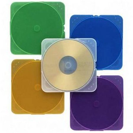 Book Fold Plastic Clear Cd - Trimpak Color CD Cases Book Fold Plastic Blue  Green  Yellow  Purple  Clear CD Case of 10