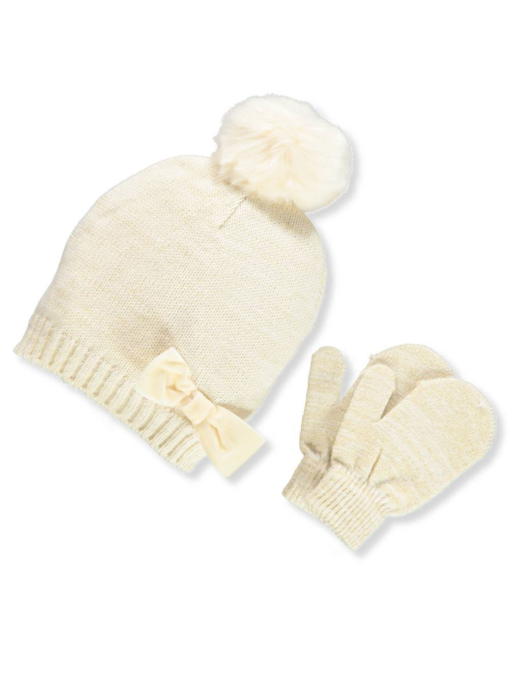 Addie & Tate Girls' Beanie & Mittens Set (Toddler One Size)