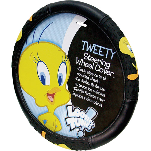 Plasticolor Tweety Attitude Steering Wheel Cover