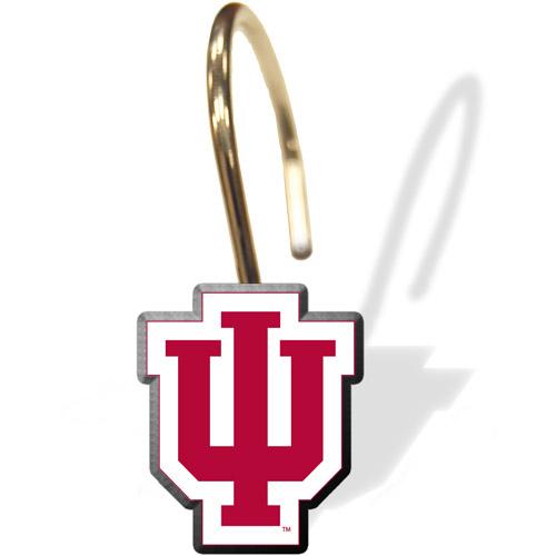NCAA Indiana Hoosiers Shower Curtain Rings, 12pk