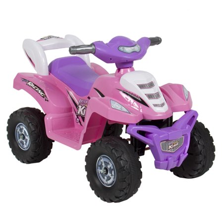 kids ride on atv 6v toy quad battery power electric 4 wheel power bicycle pink