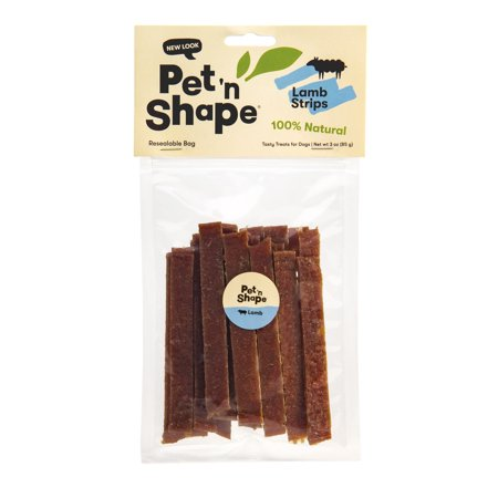 Pet 'n Shape All Natural Lamb Jerky Strip Dog Treats, 3
