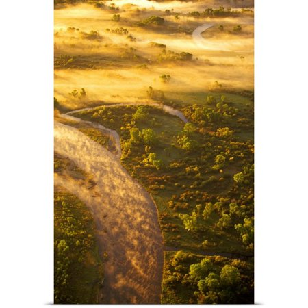 Great Big Canvas Chuck Haney Poster Print Entitled Aerial Of The Headwaters Of The Missouri River State Park Near Three Forks  Montana