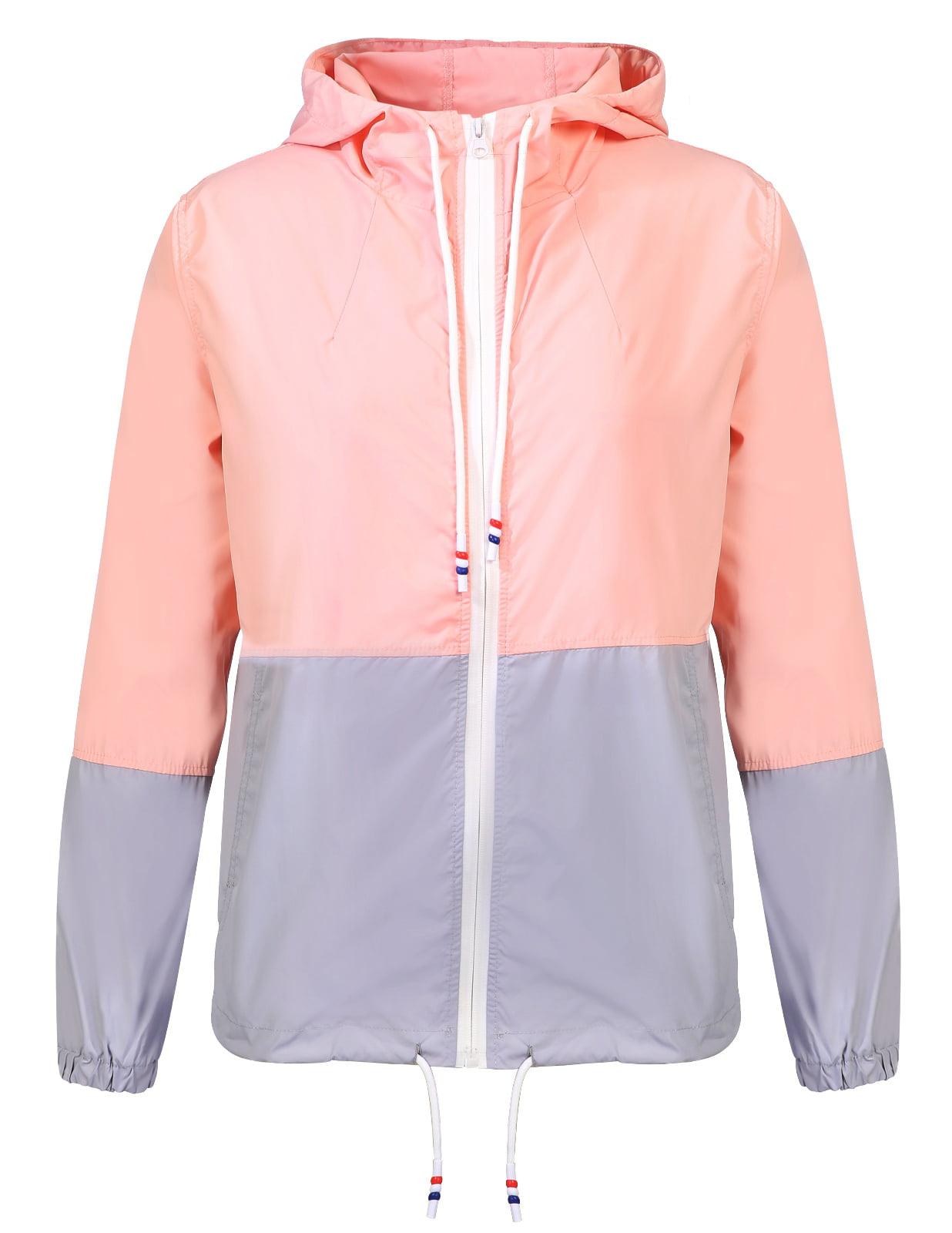 fd496292a60 VBESTLIFE - ANGGREK Womens Hooded Rain Jacket Waterproof Windbreaker ...