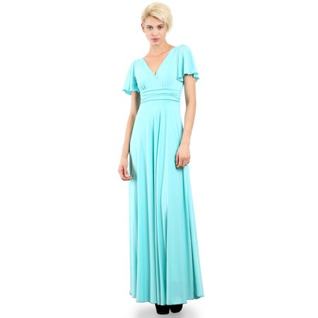 Evanese Womens Plus Size Evening Formal Long Dress Gown With Short