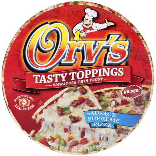Orv's Tasty Toppings Sausage Supreme Pizza, 17.1 oz