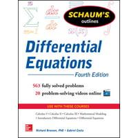 Schaum's Outlines: Schaum's Outline of Differential Equations (Paperback)