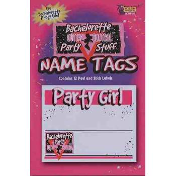 BACHELORETTE-NAME TAGS-STICKER 12 PACK BACHELORETTE-NAME TAGS-STICKER 12 PACK