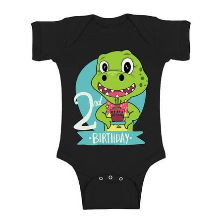 Awkward Styles Jurassic Park Clothes Second Birthday Bodysuit Short Sleeve for Newborn Baby Dinosaur Gifts for 2 Year Old Dinosaur Themed Birthday 2nd Birthday Outfit for Baby Boys and Baby Girls](Birthday Theme For 2 Year Old)