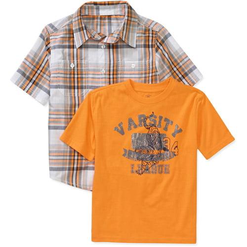 Faded Glory Boys Ss 2 Fer Shirt