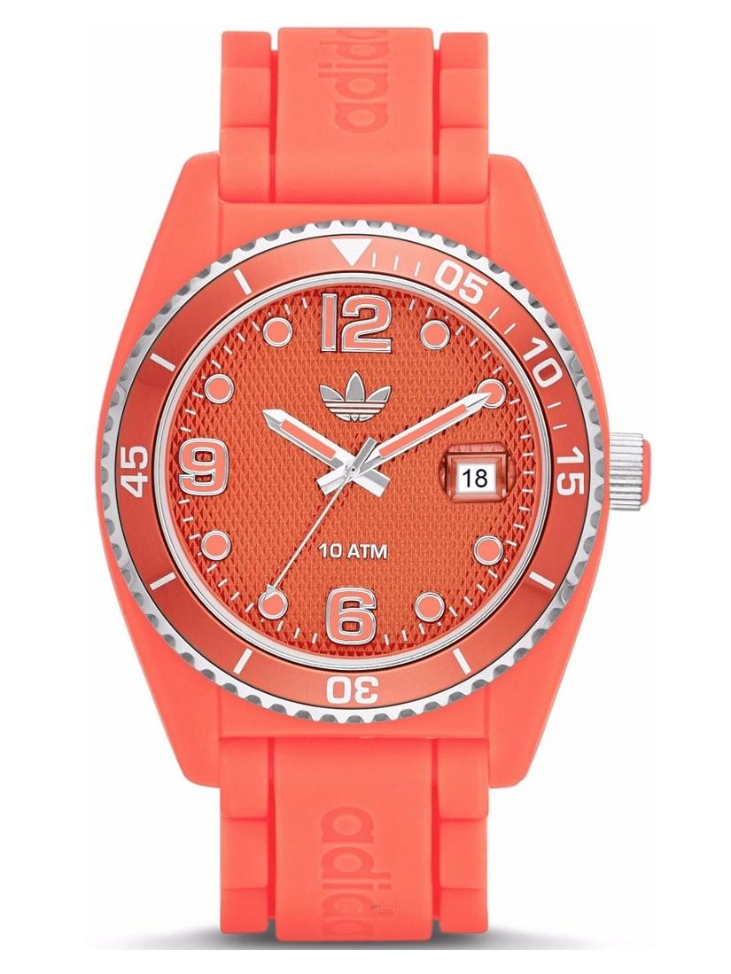 Adidas adh2939 42mm Polycarbonate Case Orange Polyurethane Mineral Men's & Women's Watch by Adidas