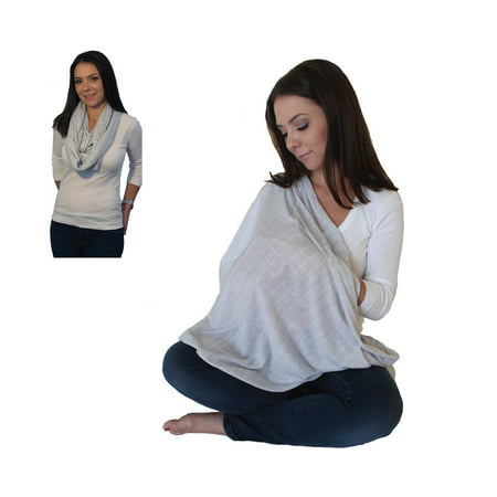 4a03685498bf6 Infinity Nursing Scarf in Heathered Grey - Walmart.com