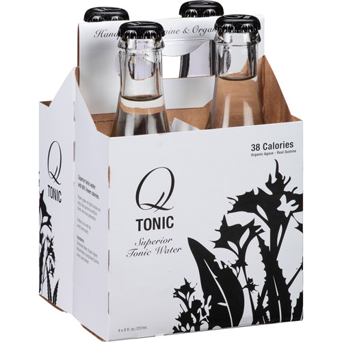 Q Tonic Agave Tonic Water, 32 fl oz, (Pack of 6)