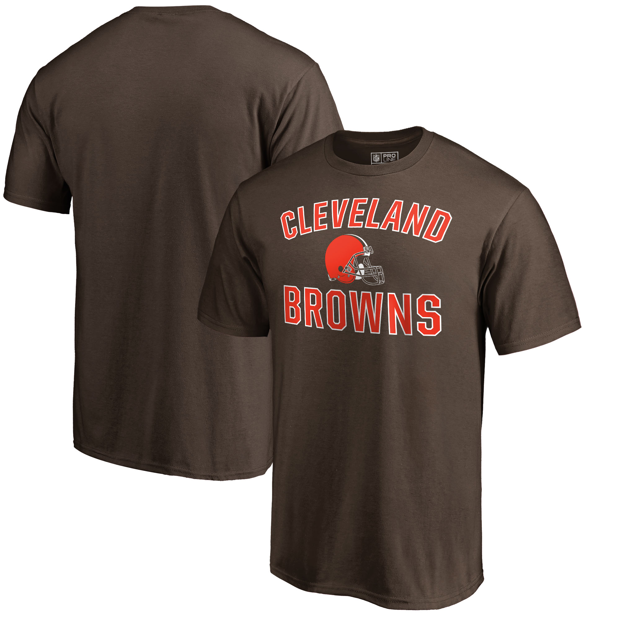 Cleveland Browns NFL Pro Line by Fanatics Branded Victory Arch T-Shirt - Brown
