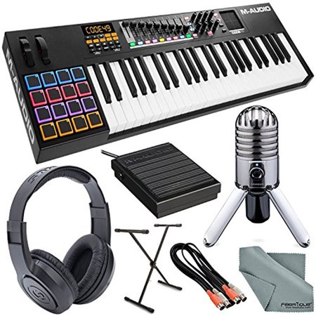 m audio code 49 49 key usb midi keyboard controller with x y touch pad and platinum bundle w. Black Bedroom Furniture Sets. Home Design Ideas