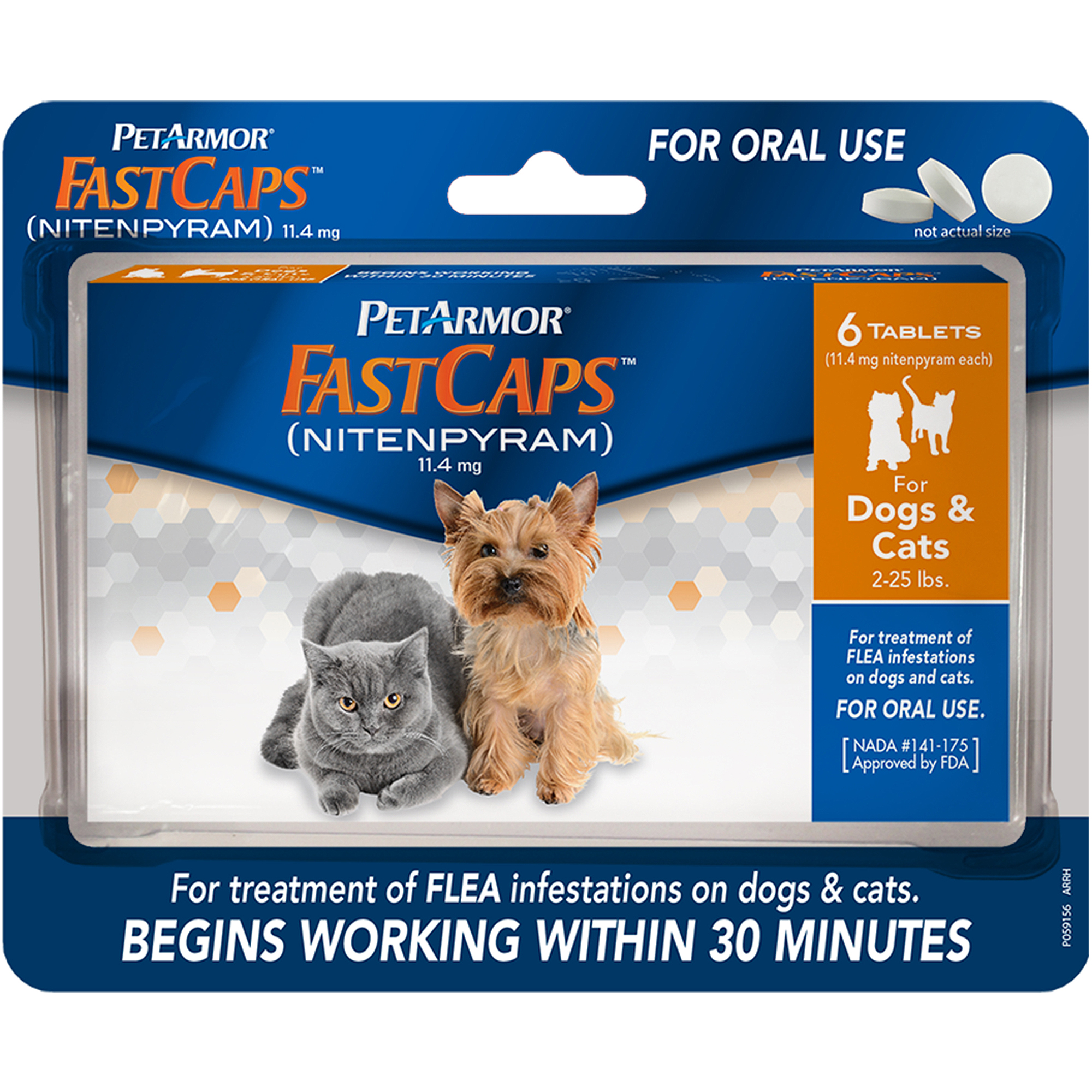 PetArmor FastCaps, Small, 6pk