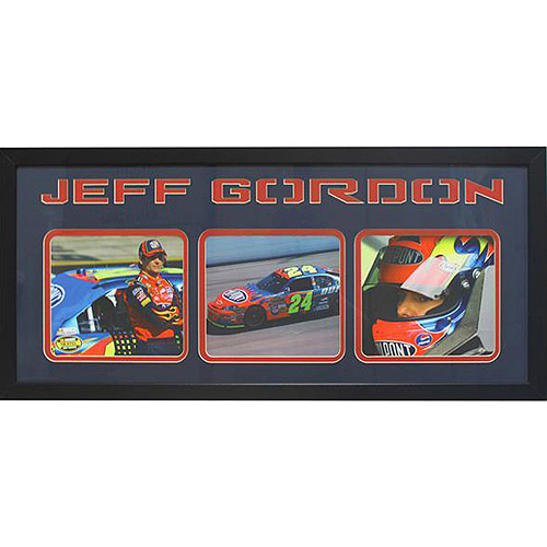 NASCAR Jeff Gordon 3-Photo Frame, 15x35