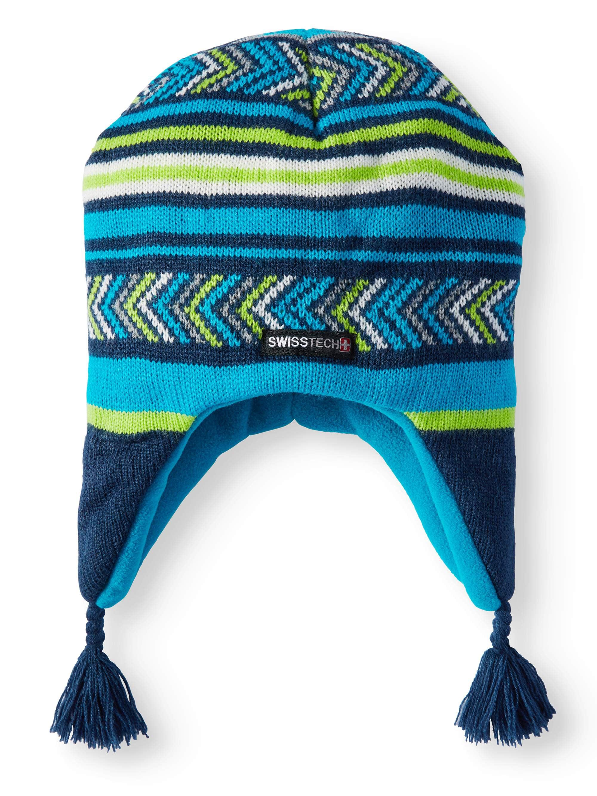 Swiss+Tech Youth Girl's Fairisle Peruvian Knit Cap With Thinsulate M-80 Lining