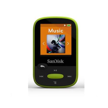 8GB CLIP SPORT MP3 PORTABLE AUDIO PLAYER USB LIME 1.44IN LCD
