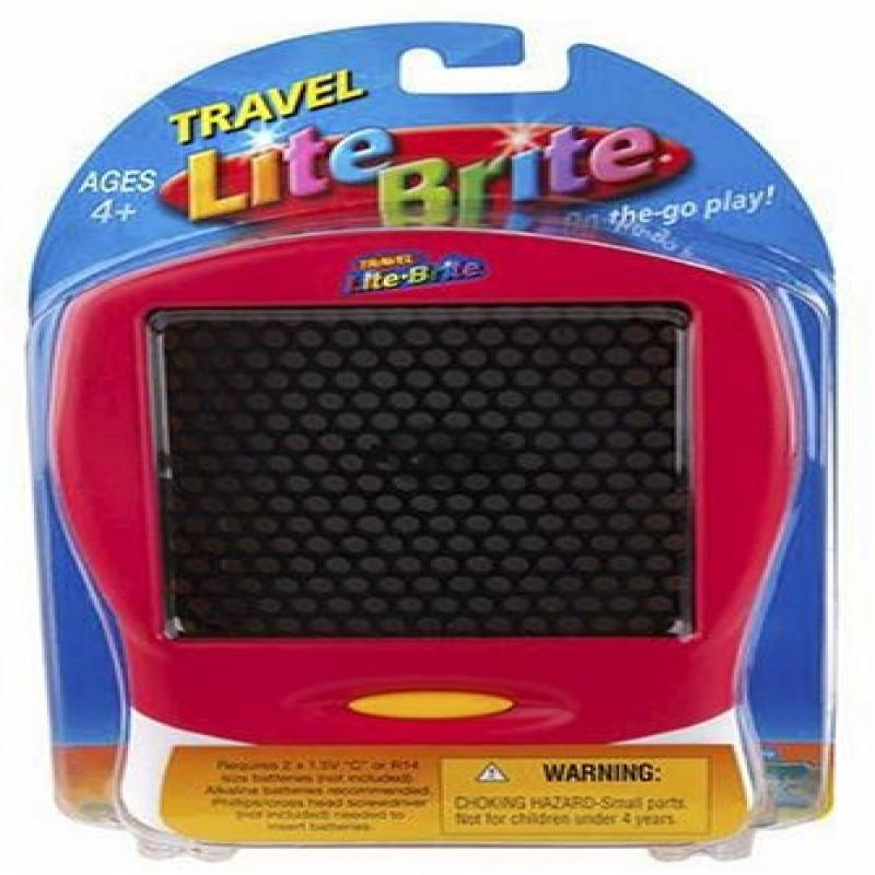 Hasbro Lite Brite Red Travel Game by
