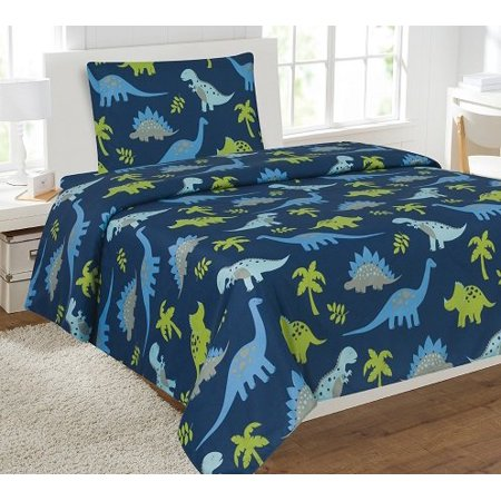 3pc Dinosaur 3 Kids Microfiber Twin Size Bedding Bed Set