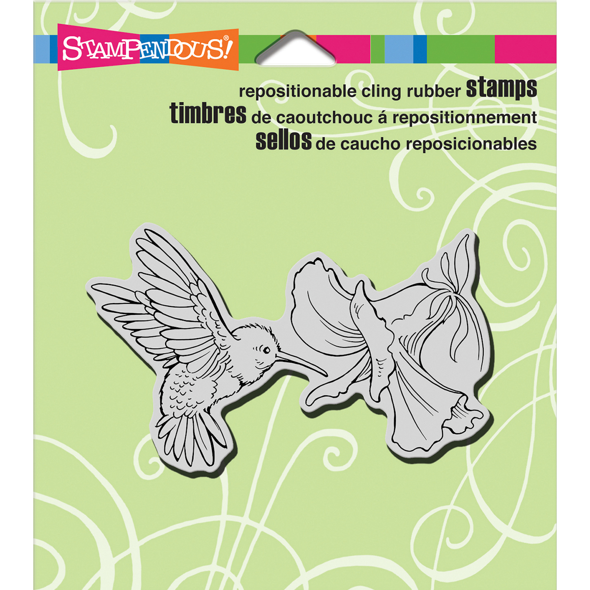 "Stampendous Cling Stamp 4.75""X4.5""-Nectar Seeker - image 1 de 1"
