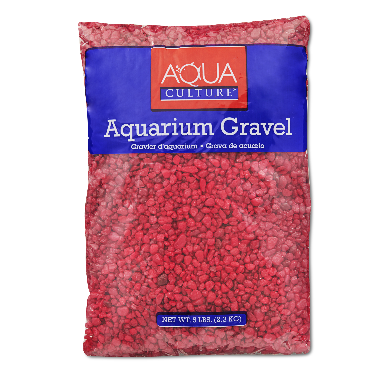 (2 Pack) Aqua Culture Aquarium Gravel, Red, 5-Pound