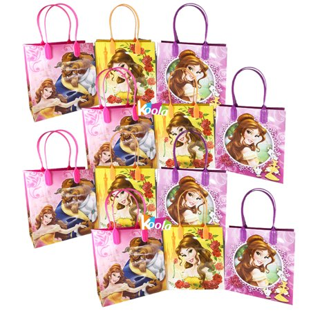12pcs Belle Beauty and the Beast Party Favor Bags Goodie Candy Gifts w/Balloons (Beauty And The Beast Wedding Favors)