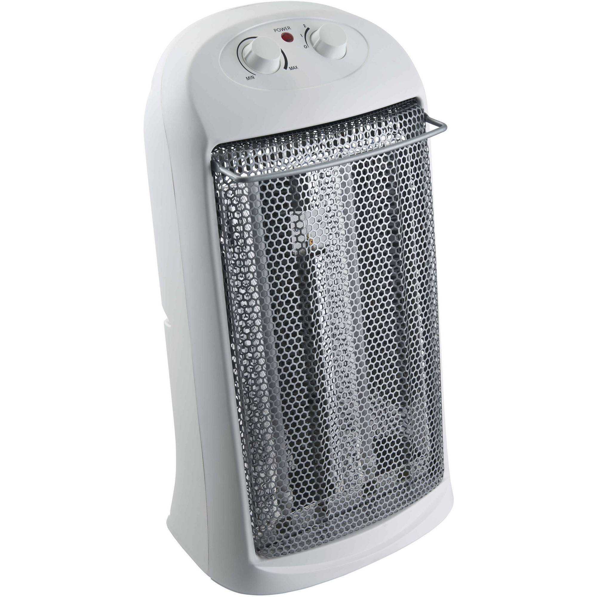 Mainstays Electric Quartz Heater with Thermostat, White, HQ-1000