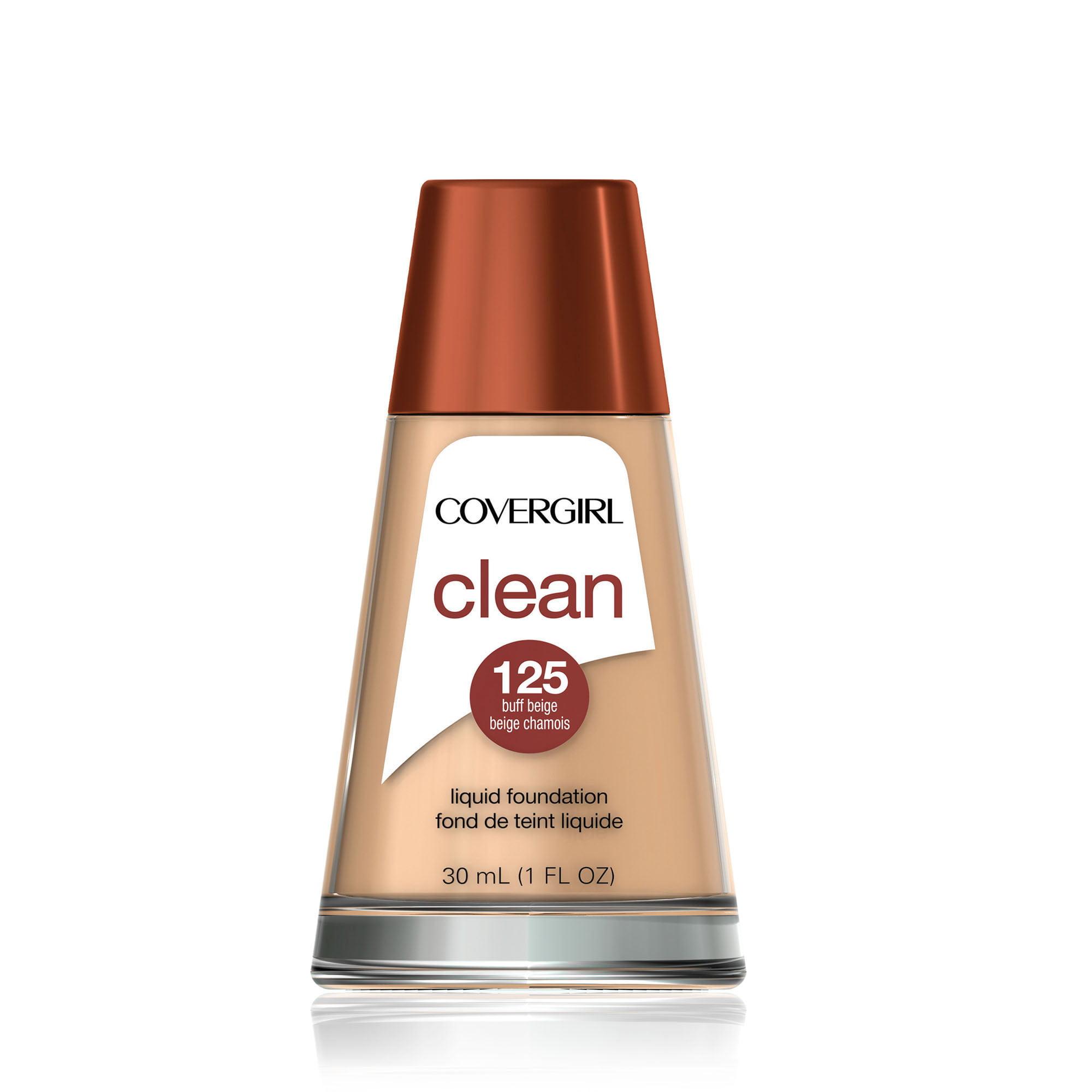 COVERGIRL Clean Makeup Liquid Foundation, Buff Beige, 1 fl oz (30 ml)