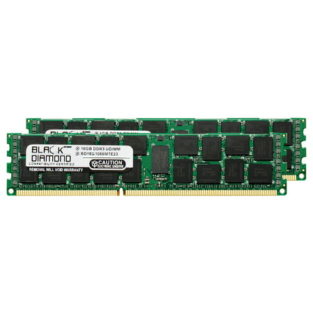 32GB 2X16GB Memory RAM for HP Workstation Series Z800 (ECC Reg.) DDR3 RDIMM 240pin PC3-8500 1066MHz Black Diamond Memory Module Upgrade