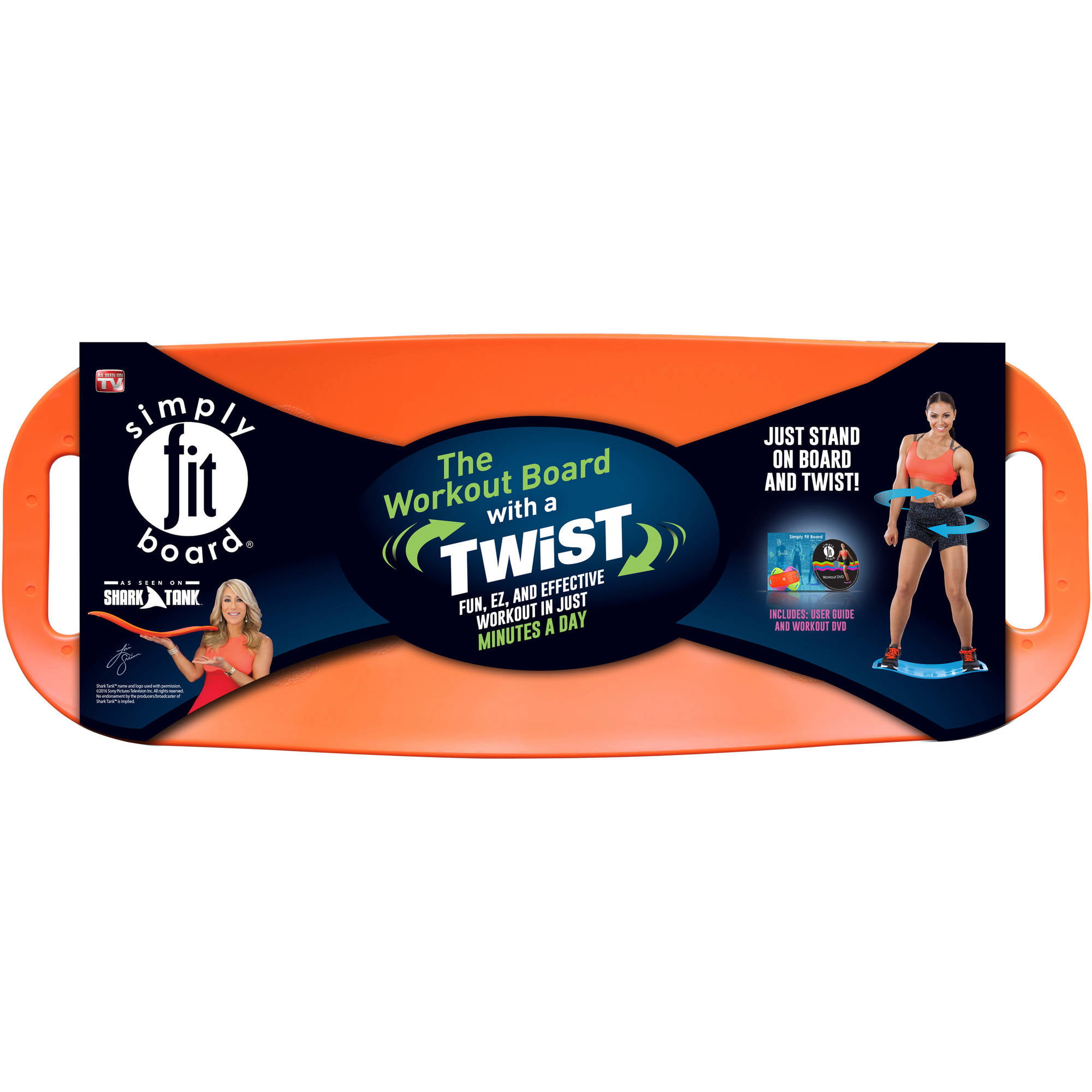 Simply Fit Balance Board, As Seen on TV, Orange by Simply Fit