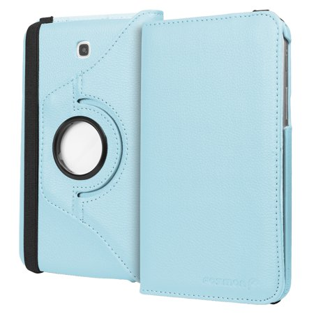 Fosmon GYRE Series Revolving Leather Case for Samsung Galaxy Tab 3 7.0 - Sky Blue ()