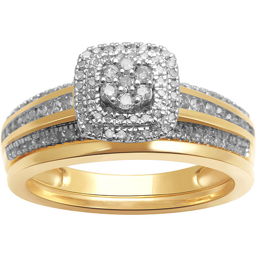 1/2ct. T.W. Diamond 10kt Yellow Gold Bridal Set