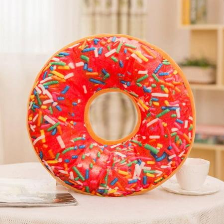 Tuscom Soft Plush Pillow Stuffed Seat Pad Sweet Donut Foods Cushion Cover Case Toys](Plush Donut)