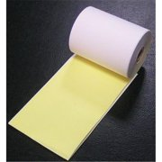 Adorable Supply MP21495CIT2 2 Ply White-Canary Carbonless Paper Rolls  2.25 in. W x 100 ft. L
