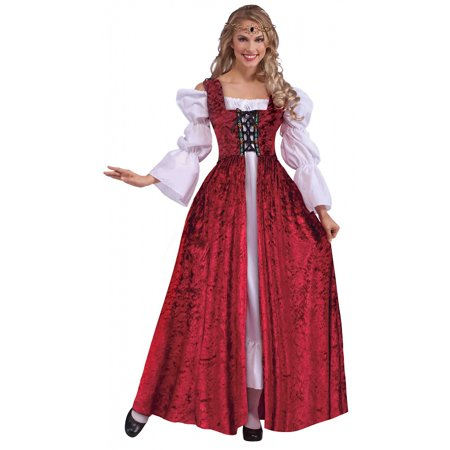 Medieval Single - Medieval Lace-Up Gown Adult Costume - Plus Size